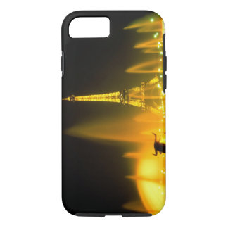Fountain at the world famous Eiffel Tower Paris iPhone 7 Case