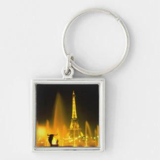 Fountain at the world famous Eiffel Tower Paris Keychain