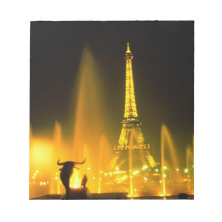 Fountain at the world famous Eiffel Tower Paris Notepad