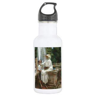Fountain at Villa Torlonia Stainless Steel Water Bottle