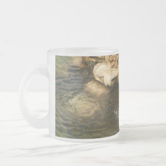 Fountain Base Frosted Glass Coffee Mug