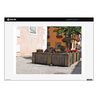Fountain, Castelrotto (Kastelruth), Italy Laptop Decals