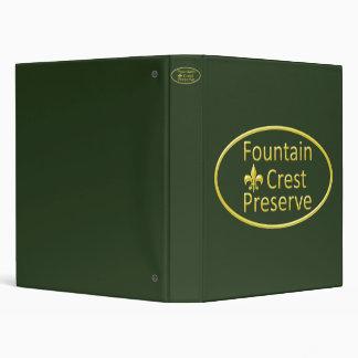 Fountain Crest Preserve Oval Binder