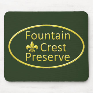 Fountain Crest Preserve Oval Mouse Pad