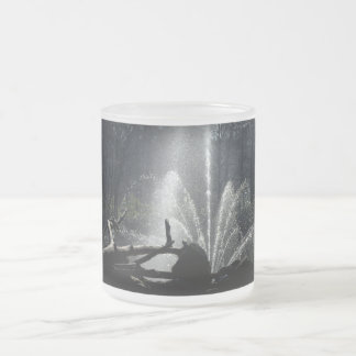 Fountain Frosted Glass Coffee Mug