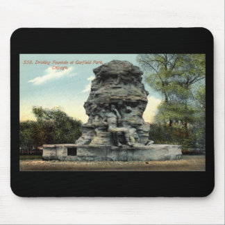 Fountain Garfield Park Chicago Repro Vintage 1912 Mouse Pad