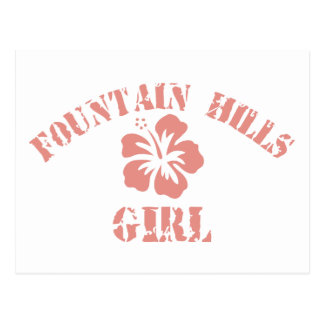 Fountain Hills Pink Girl Post Card