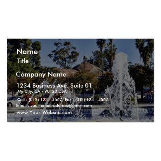 Fountain In Balbao Park San Diego Business Cards