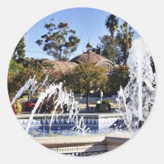 Fountain In Balbao Park San Diego Classic Round Sticker
