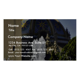 Fountain In Balboa National Park Business Card Templates