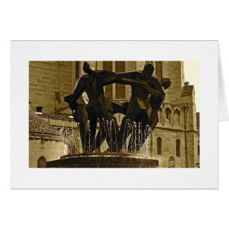 Fountain in East Liberty Stationery Note Card
