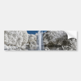 Fountain in Infrared Bumper Sticker