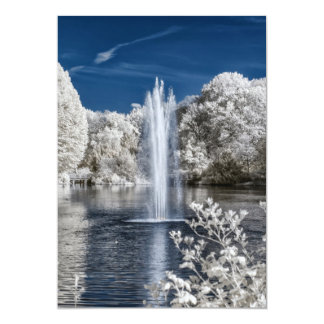 Fountain in Infrared Card