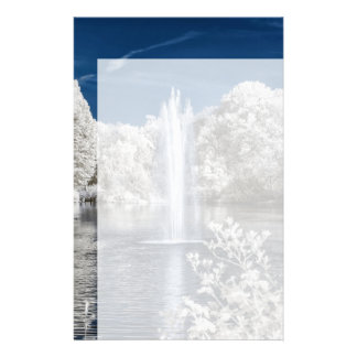 Fountain in Infrared Stationery