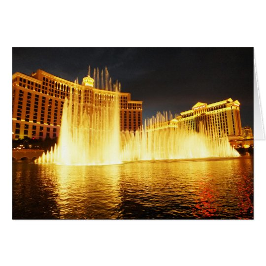 Fountain in Las Vegas Card