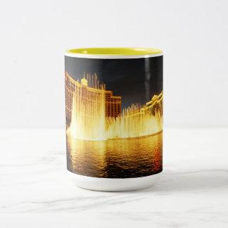 Fountain in Las Vegas Two-Tone Coffee Mug