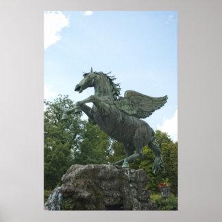 Fountain in Mirabell Gardens in Salzburg Poster