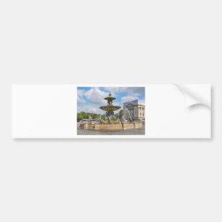 Fountain in Place de Concorde in Paris, France Bumper Sticker