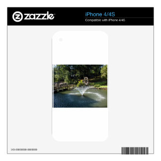 Fountain in the Pond Decal For The iPhone 4