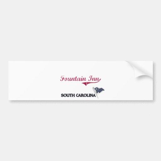Fountain Inn South Carolina City Classic Bumper Stickers