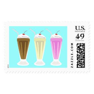 Fountain Milkshakes Postage Stamp
