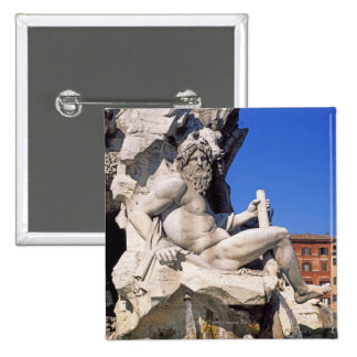 Fountain of Four Rivers on Piazza Navona. Rome, Pins