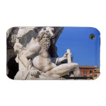 Fountain of Four Rivers on Piazza Navona. Rome, Case-Mate iPhone 3 Cases