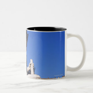 Fountain of Four Rivers on Piazza Navona. Rome, Two-Tone Coffee Mug