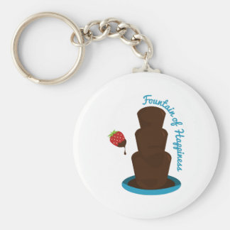 Fountain Of Happiness Basic Round Button Keychain