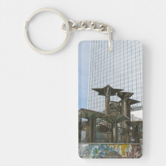 Fountain of International Friendship in Berlin Single-Sided Rectangular Acrylic Keychain