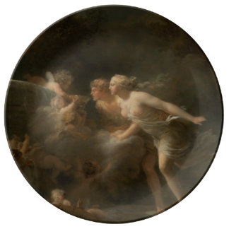 Fountain of Love by Jean-Honore Fragonard Porcelain Plate