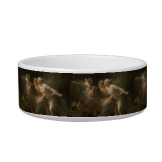 Fountain of Love by Jean-Honore Fragonard Pet Bowls