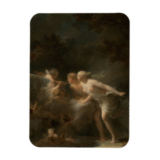 Fountain of Love by Jean-Honore Fragonard Rectangle Magnet