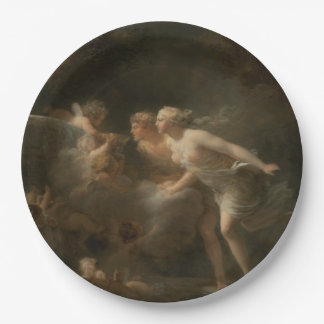 Fountain of Love by Jean-Honore Fragonard 9 Inch Paper Plate
