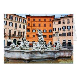 Fountain of Neptune card