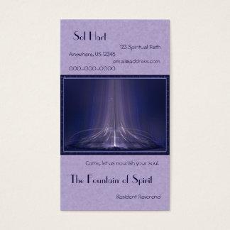 Fountain of Spirit Abstract Art Business Card