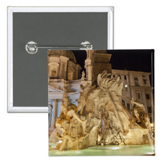 Fountain of the 4 Rivers, Piazza Navona, Rome Pinback Buttons