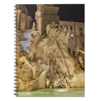 Fountain of the 4 Rivers, Piazza Navona, Rome Notebook