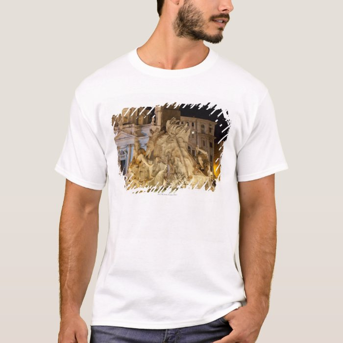Fountain of the 4 Rivers, Piazza Navona, Rome T-Shirt