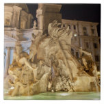 Fountain of the 4 Rivers, Piazza Navona, Rome Tile