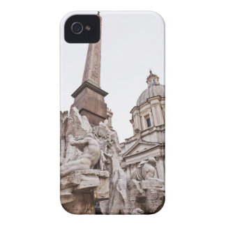 Fountain of the Four Rivers and Obelisk iPhone 4 Case-Mate Cases