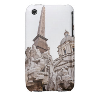 Fountain of the Four Rivers and Obelisk Case-Mate iPhone 3 Cases