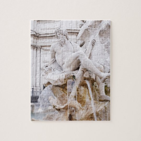 Fountain of the Four Rivers, Piazza Navona, Jigsaw Puzzle