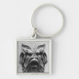Fountain of the Four Seasons Silver-Colored Square Keychain