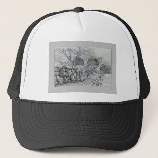 Fountain of the Virgin at Ain Karim by James Tisso Trucker Hat