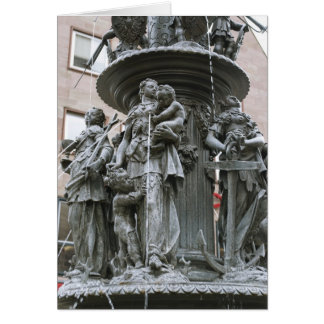 Fountain of the Virtues in Nuremberg Greeting Card