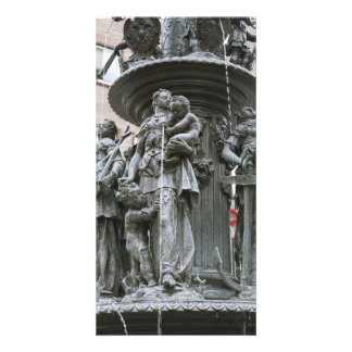 Fountain of the Virtues in Nuremberg Photo Card Template