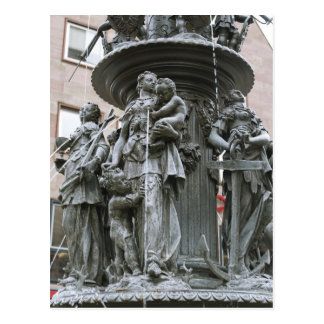 Fountain of the Virtues in Nuremberg Postcard