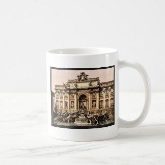 Fountain of Trevi, Rome, Italy vintage Photochrom Coffee Mug