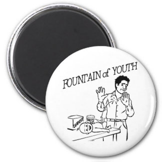 """Fountain of Youth"" 2 Inch Round Magnet"